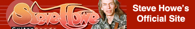 Banner link to Steve Howe's website.